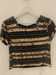 BLACK-GOLD-SEQUIN-TOP-6-TOPSHOP-GLAM-PARTY-CLUB-IBIZA-MARBS-PRETTY-SPARKLY-CHIC