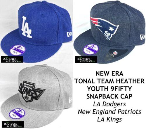 VARIOUS NEW ERA MLB//NFL//NHL TONAL TEAM HEATHER YOUTH 9FIFTY SNAPBACK CAP