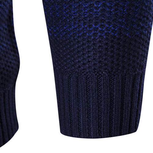 Fashion Mens/' Long Sleeve Thickening Jumpers O-Neck Splicing Slim Fit Pullover