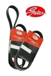Gates-Fan-A-C-P-S-Auxiliary-Belt-Set-of-2-For-E51-Nissan-Elgrand-VQ35DE-V6