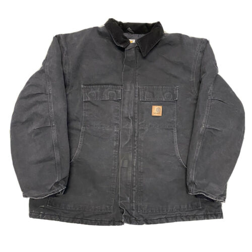 CARHARTT Quilted Chore Jacket Workwear Canvas Duck