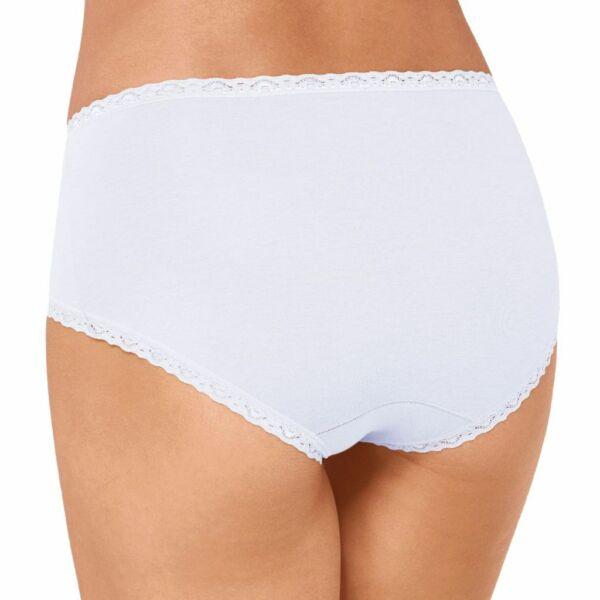 6er Spar-Pack – Sloggi 24/7 Cotton Lace – Damen – Midi Slip Unterhose Baumwolle