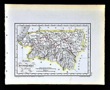 1841 Perrot France Map Departement - Basses Pyrenees Pau Oleron Orthes Mauleon