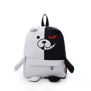 3ad83b9b78 Image is loading Danganronpa-Monokuma-Backpack-Student-Book-Bag-Anime- Schoolbag-