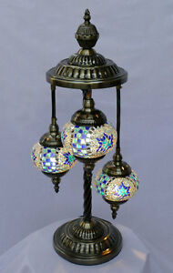 stehlampe lampe orientalisch istanbul mosaiklampe orient 1001 nacht gl02bl a ebay. Black Bedroom Furniture Sets. Home Design Ideas