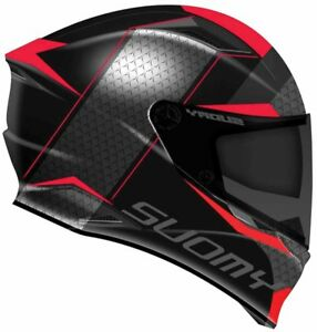 NEW-CASCO-INTEGRALE-SUOMY-SPEEDSTAR-SPORT-TOURING-TRICARBOCO-RAP-RED