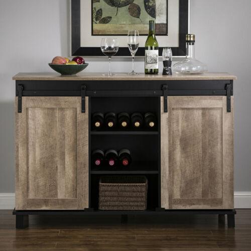Glitzhome Kitchen Bar Wine Rack, Wine Rack Cabinet
