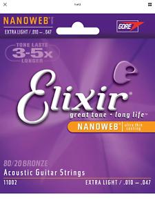 11002-Elixir-Acoustic-Nanoweb-80-20-Bronze-Extra-Light-Guitar-Strings-010-047