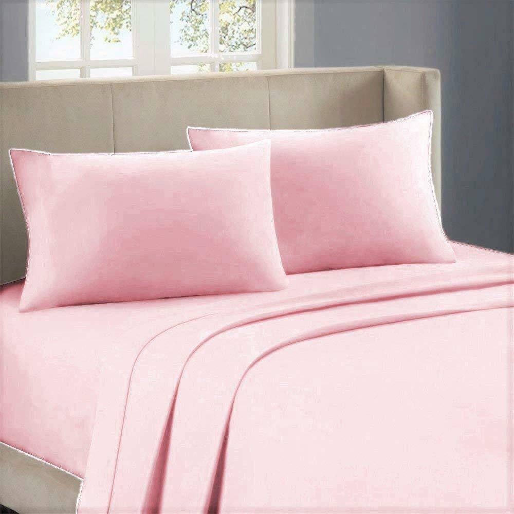 1000 Thread Count Egyptian Cotton Superior Bedding All Sizes Pink Solid color