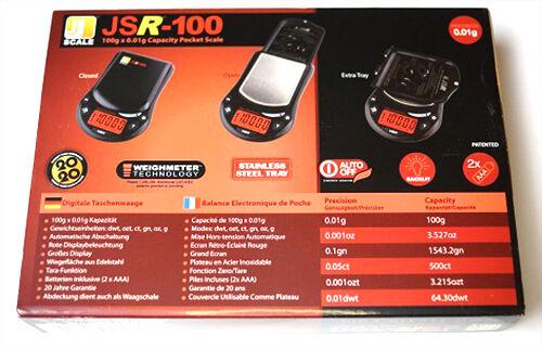 JScale JSR Digitalwaage 50 100 150 200 300 600 x 0,01 0,1g Feinwaage Taschenwaae