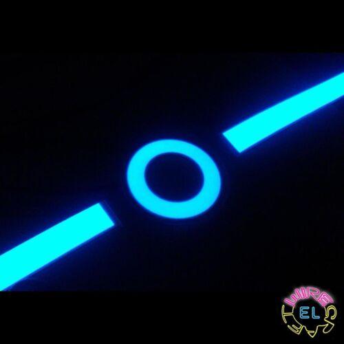 Glowing Disc of EL Tape Ring Shape on Tron Costume 4 X 6cm EL Hoops = £12.99