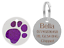 Personalised-Engraved-Round-Glitter-Paw-Print-Dog-Cat-Pet-ID-Tag-Small-Large thumbnail 7