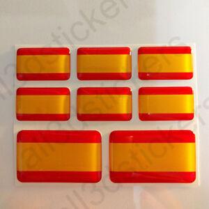 Pegatinas-Espana-Sin-Escudo-Pegatina-Bandera-Espana-Adhesivo-3D-Relieve-Resina