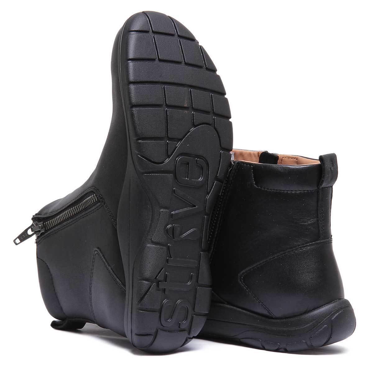 Strive Bamford Femme Cuir Noir Noir Noir Mat Cheville Bottes Taille UK 3 - 8 a7be12