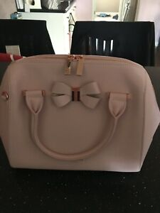 ca84265e0 New TED BAKER LONDON Small Bowsiia Leather Bowler Shoulder Bag Pink ...