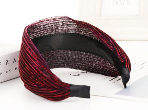Womens Headwear Headband Wide Hair Band Cloth Hair Hoop Girl Accessory Headpiece