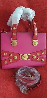 f22254b85489 Versace Medusa Stud Tribute Tote in Pink - Brand New