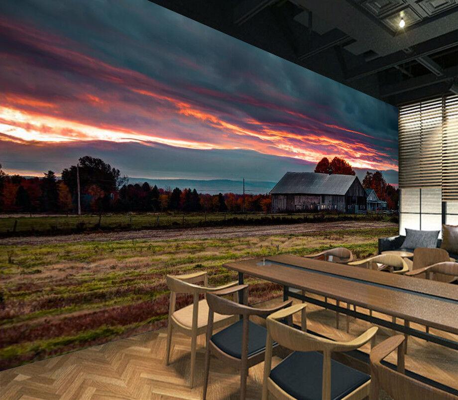 3D Himmel Feld Bauernhof 893 Tapete Wandgemälde Tapeten Bild Familie DE Lemon