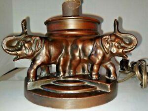 VINTAGE ART DECO ART NOUVEAU ARTS & CRAFT Montage 3-ELEPHANT Lampe 1900-1940 abat-jour en option