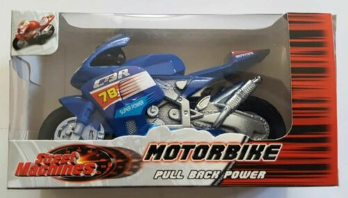 STREET MACHINE TRACTION Arrière Moto jouet moto à friction Power Kids-Cadeau Neuf