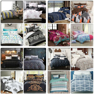 ARTISTIC-Queen-King-Super-King-Size-Bed-Doona-Duvet-Quilt-Cover-Pillowcases-Set