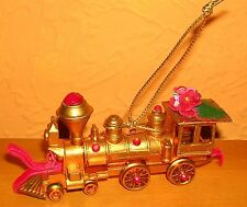 Koestel Weihnachtsbaumschmuck Lokomotive gold Christbaum (1)