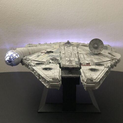 Built Perfect Grade Bandai Star Wars Millennium Falcon 1//72 With Custom Lighting