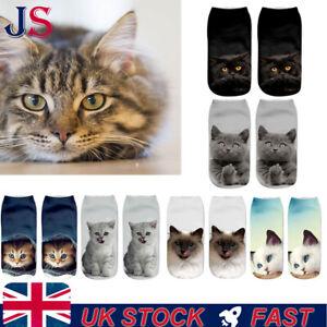 Cute Pair DOG CAT Printed Men Women Fashion Designer Low Ankle Socks