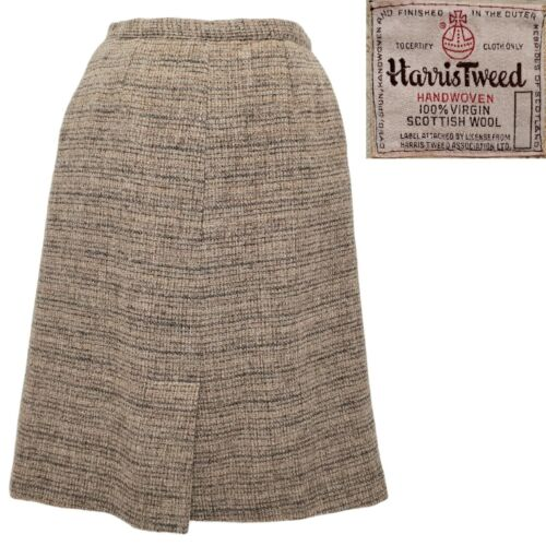 80s GEOFFREY BEENE heavy wool tweed high waist wrap skirt lined  tagged size 4  27 waist