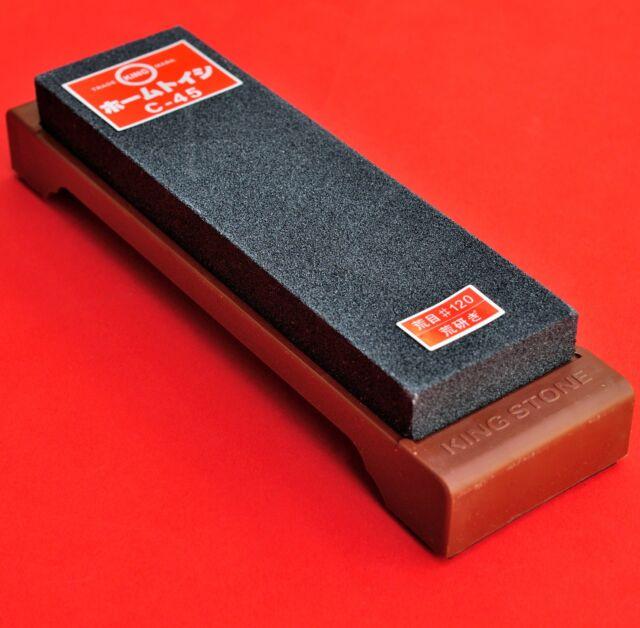 Japan waterstone stone whetstone knife sharpener sharpen fine #120 KING C-45
