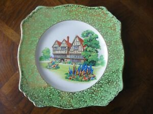 Vintage-Royal-Winton-Grimwades-034-Old-English-Manor-House-034-Luncheon-Plate-9-3-4-034