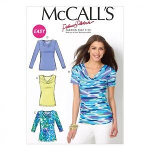 GRATIS UK P /& P-McCalls Donna facile Sewing Pattern 7325 raccolte Blusa Top.