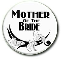 """BESPOKE WEDDING PARTY BADGES~ PERSONALISED 55 MM/ 2.2 """" SIMPLY STUNNING!"""