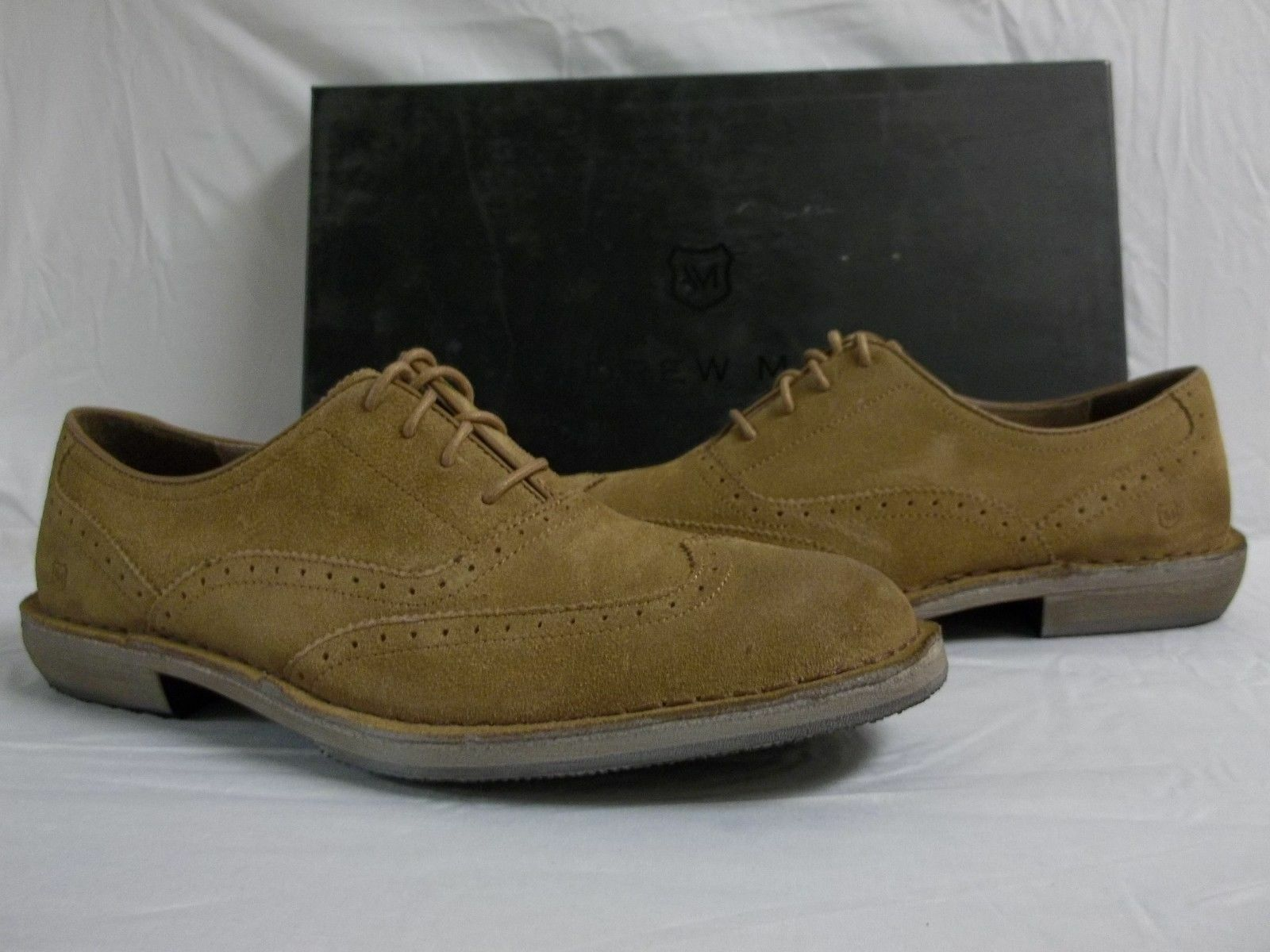 Men's Marc New York by Andrew Marc Dyker Brown Natural Suede Size 9 MSRP 168