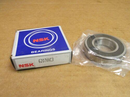 NIB NSK 6207VVC3 BEARING RUBBER SEALED 6207 VV C3 6207-2RS-C3 35x72x17 mm USA