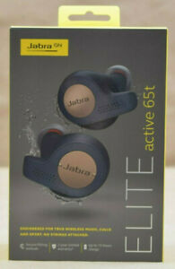 Jabra Elite Active 65t True Wireless Sports Earbuds W Charging Case Copper Blue 615822010801 Ebay
