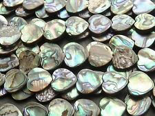 "16mm DOUBLE SIDED ABALONE HEARTS, 15.5"", approx 26 beads"