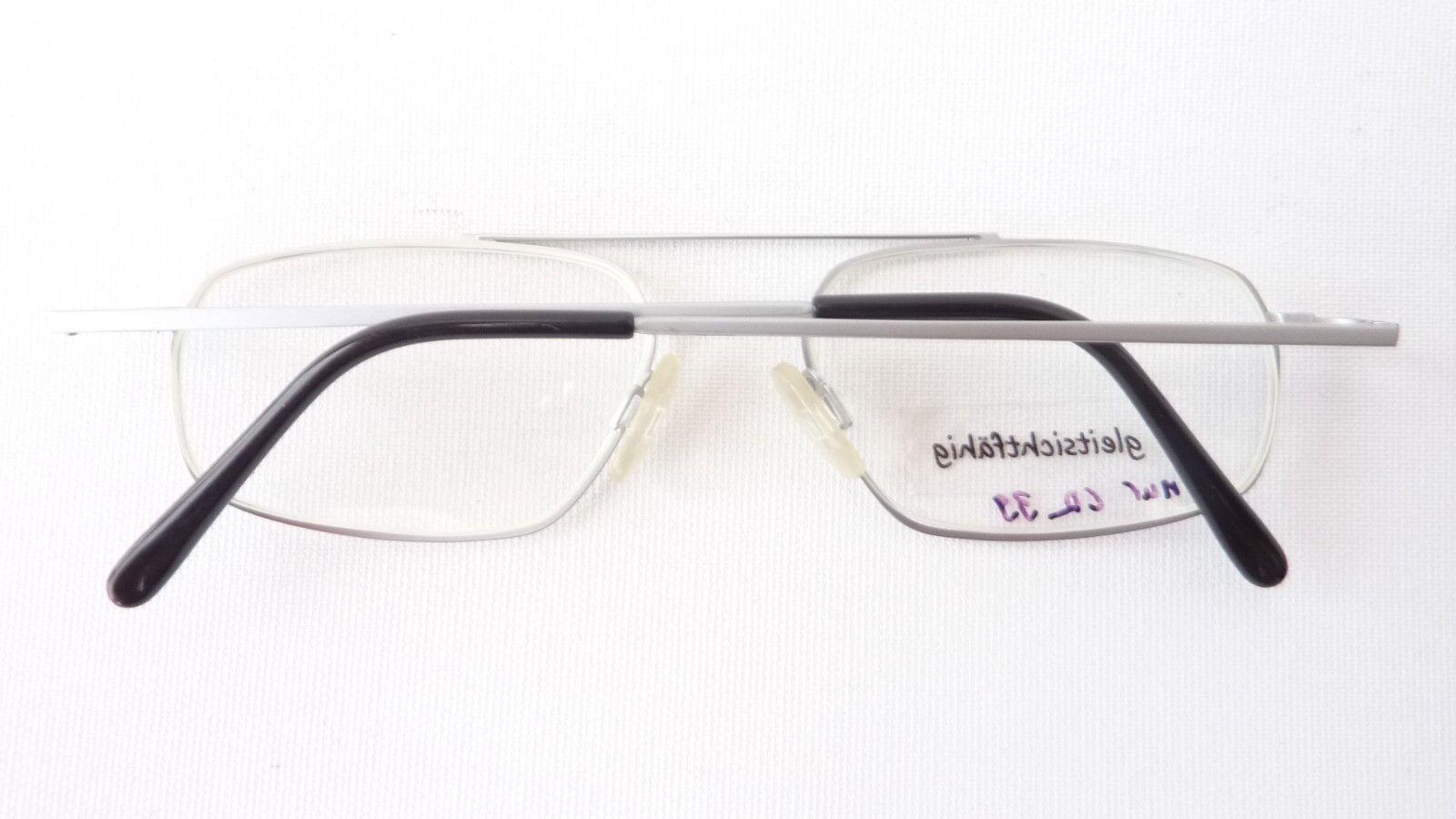 Pilot Brille Gestell Metall Fassung schmal schmal schmal Herren Doppelsteg hell silber Gr M | Ausgezeichnet  0cf6db