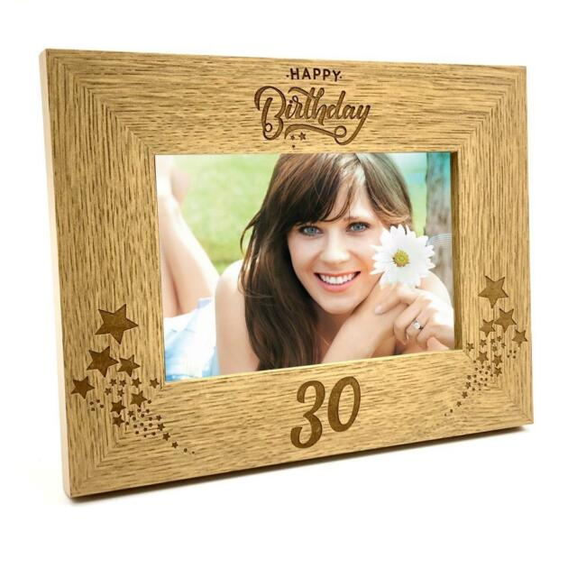 4 x 6 Inch ukgiftstoreonline Happy 10th Anniversary Wooden Photo Frame Gift