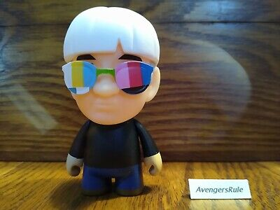 "Super Hero 60 S-Many Faces of Andy Warhol 3/"" Mini Figure Kidrobot NEUF"