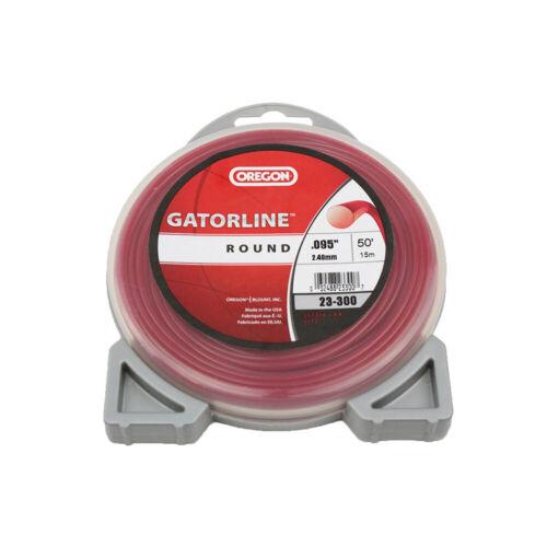 """Oregon 23-300 Gatorline 50ft Donut 0.095/"""" Gauge Commercial Round String Trimmer"""
