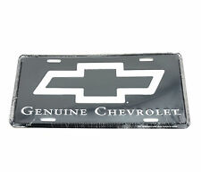 Genuine Chevrolet Chevy Logo Licensed Aluminum Metal License Plate Sign Tag