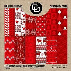 Christmas Scrapbook Paper.Details About Red Nordic Christmas Scrapbook Paper 12 8x8 Inch Double Sided Scrapbooking Pag