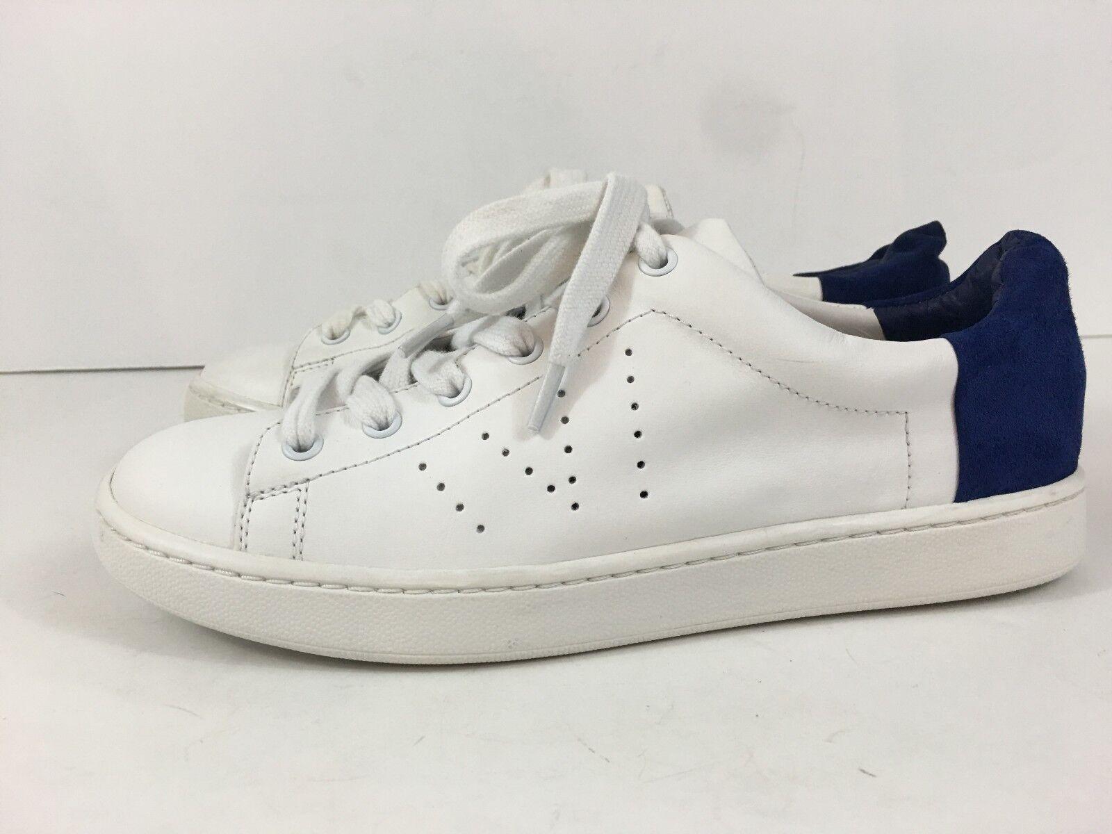 NEW VINCE VARIN bianca LEATHER COBALT SUEDE LOW scarpe da da da ginnastica Dimensione US 6  355 d2c762