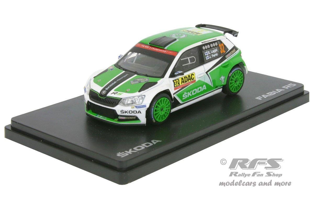 Skoda Fabia R5 R5 R5  Rallye Deutschland 2016  Esapekka Lappi - 1 43 Abrex 605TD fc672c