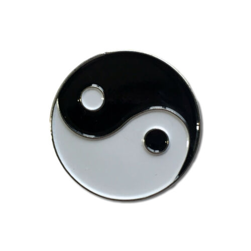 Yin Yang High Quality Metal /& Enamel Pin Badge with Secure Locking Back