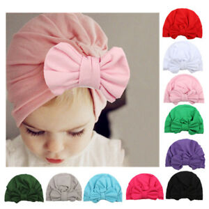 300c5978b Details about Lovely Baby Boy Girl Infant Newborn Winter Warm Beanie Cotton  Bow Cap Turban Hat