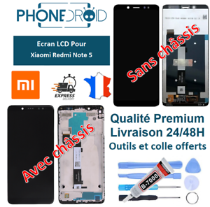 Ecran-complet-LCD-tactile-Xiaomi-Redmi-Note-5-Outils-et-colle-stock-FR
