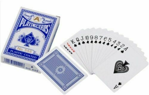 Plastic Coated ponts de classique professionnel cartes à jouer Poker Taille Nº 988