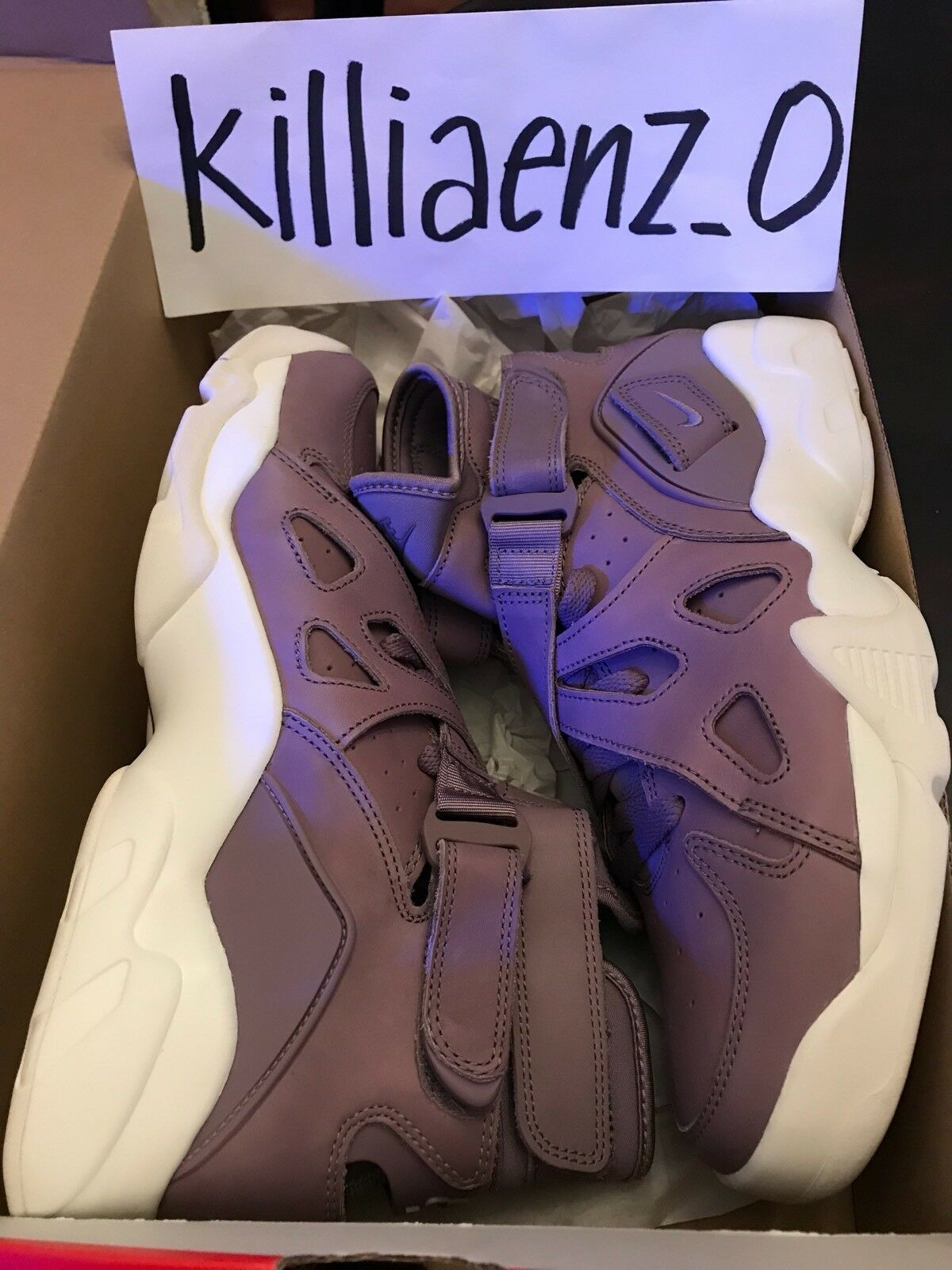 Nike Smoke-Sail Air Unlimited Purple Smoke/Purple Smoke-Sail Nike 854318-551 Men's SZ 9 RARE 22313a